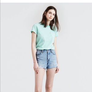 Women's Levi's light wash wedgie shorts